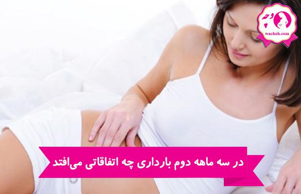 در سه ماهه دوم بارداری چه اتفاقاتی میافتد