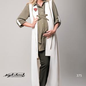 مانتو و پیراهن بارداری سه تیکه دو زیپ