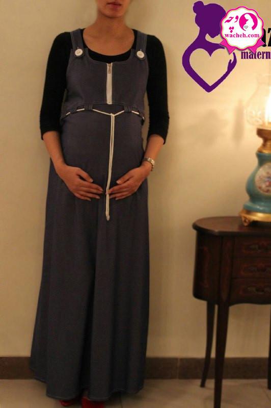 سارافون بارداری تِنسِل بلند یقه زیپ دار