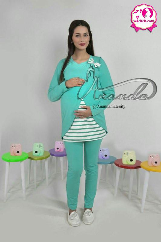 تیشرت شلوار بارداری و شیردهی گل لاله