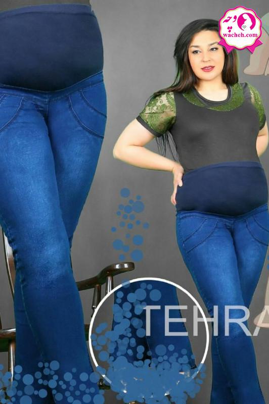 شلوار بارداری جین کاغذی