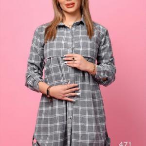 تونیک مانتو بارداری و شیردهی جلو دکمه دار و زیپ مخفی