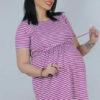 پیراهن بارداری و شیردهی تریکو راه راه