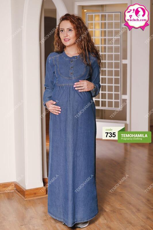 مانتو پیراهن بارداری و شیردهی ماکسی پالیز