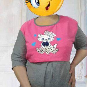 تی شرت شلوار بارداری و شیردهی راحتی پاپیونی