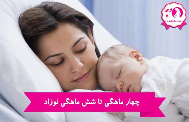 چهار ماهگی تا شش ماهگی نوزاد