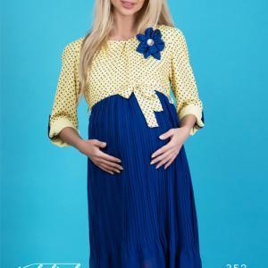پیراهن بارداری خالدار پایین پلیسه