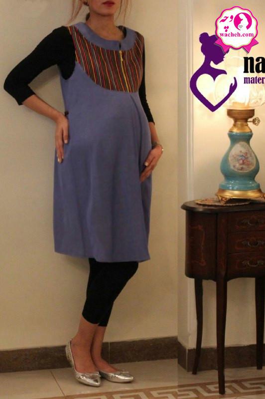 سارافون بارداری سنتی سینه زیپ دار