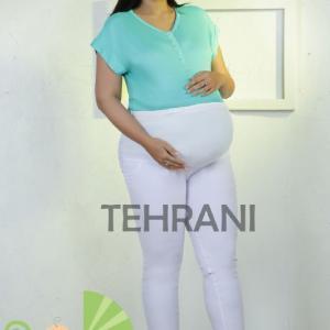 شلوار بارداری تریکو لاکرا نخ پنبه