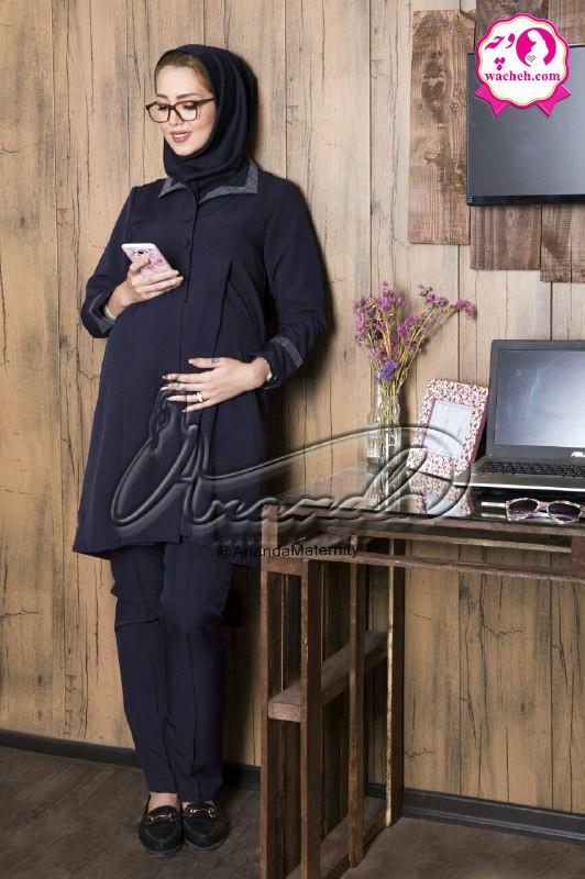 مانتو شلوار بارداری و اداری کلاسیک