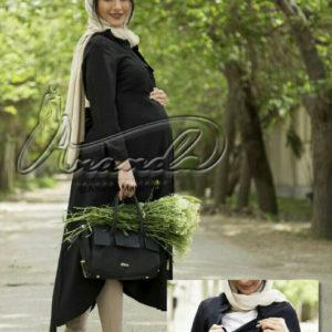 مانتو بارداری و شیردهی کرپ