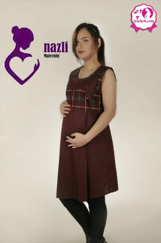 سارافون بارداری دو پیله یقه کراواتی غنچه