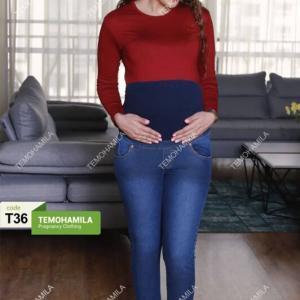 شلوار بارداری جین جذب فتانه