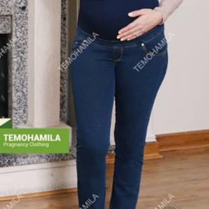 شلوار بارداری جین دمپا لوله ثمر